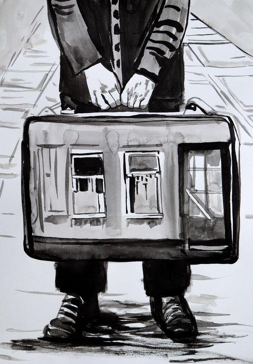 Traveler #2 / 42 x 29.8 cm - Alexandra Djokic