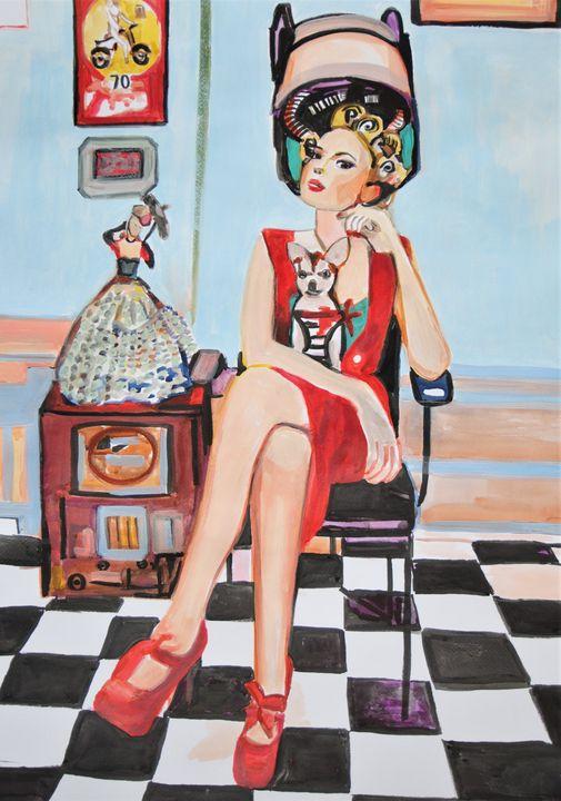 Vintage Girl / 71 x 51 cm - Alexandra Djokic