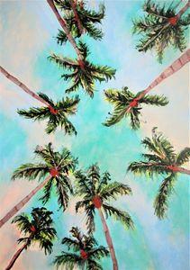 Palm trees / 70 x 50 cm