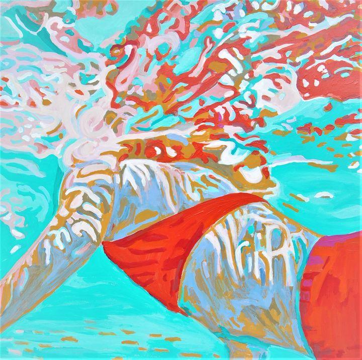 Underwater / 70.8 x 70 cm - Alexandra Djokic