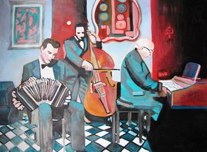 Tango Musicians / 95 x 70 cm - Alexandra Djokic