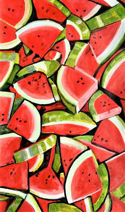 Watermelons / 94 X 55.5 cm - Alexandra Djokic
