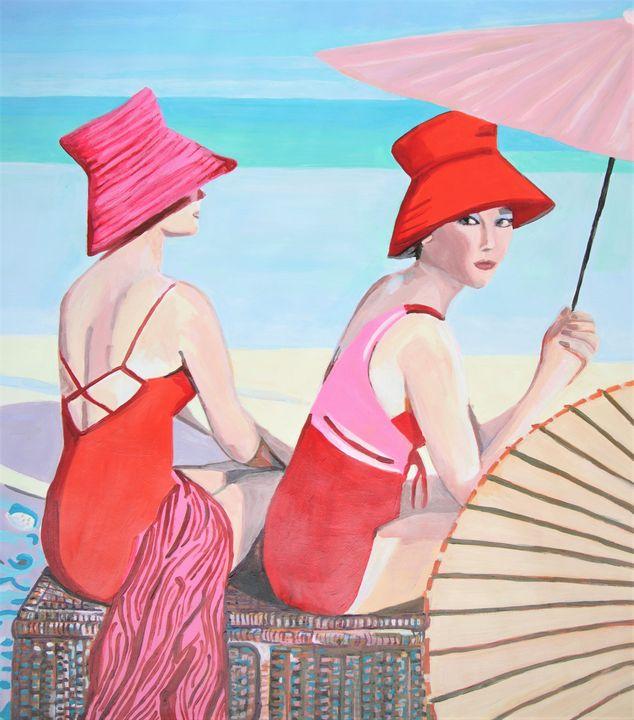 At the beach / 81 x 72 cm - Alexandra Djokic