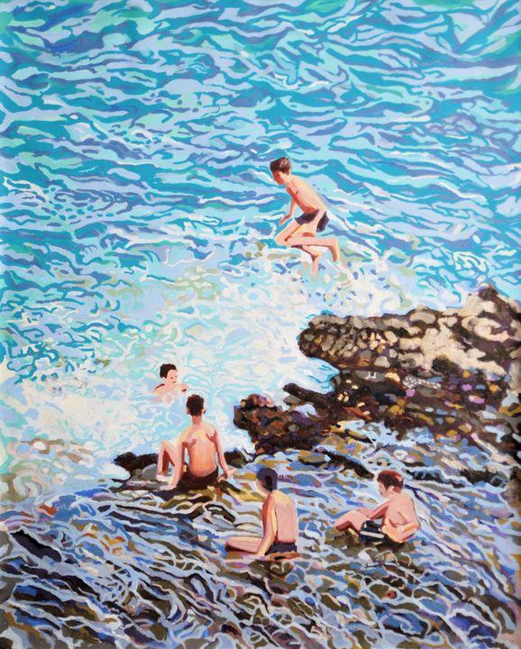 Jump / 100 x 80 x 2 cm - Alexandra Djokic