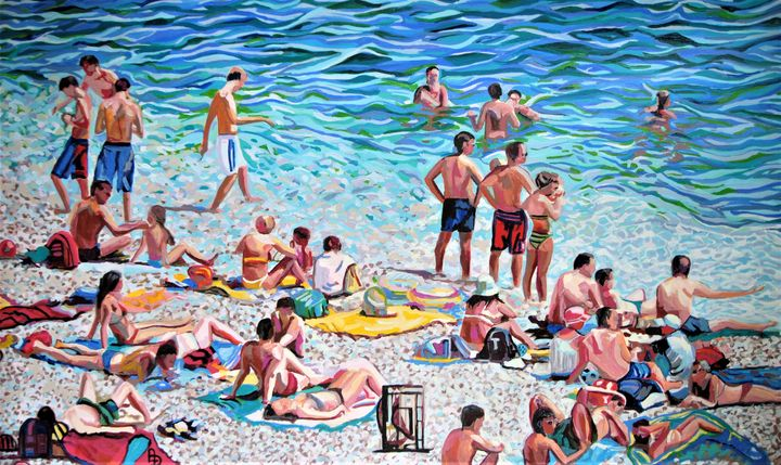 Extra Large - At the beach / 145 x 9 - Alexandra Djokic