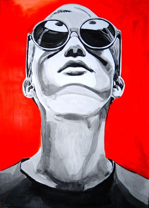 Girl with sunglasses #2 / 70 X 50 cm - Alexandra Djokic