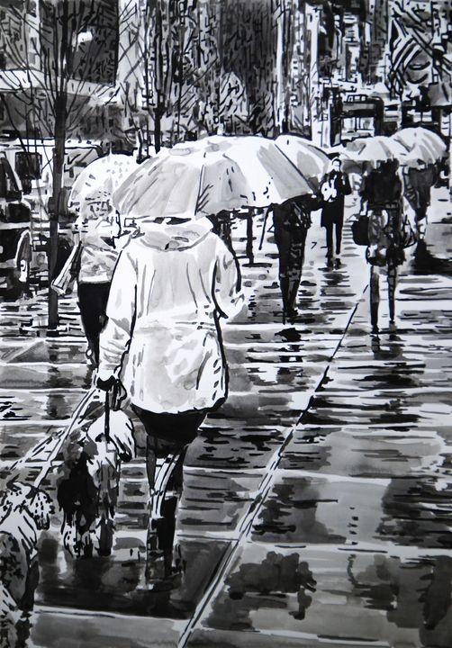 Rainy Town ID / 50 X 35 cm (2019) - Alexandra Djokic