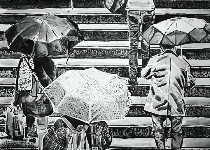 Rainy Town ID / 72 X 50 cm (2019) - Alexandra Djokic