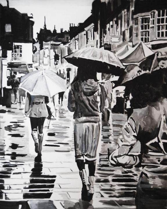 Rainy Town / 61.8 x 50 cm - Alexandra Djokic