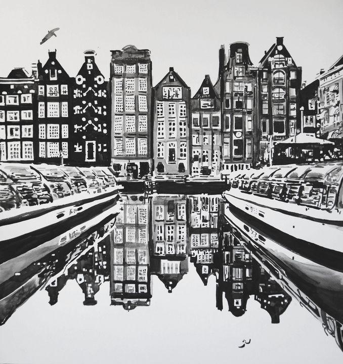 Urban landscape / 53.5 X 51 cm - Alexandra Djokic