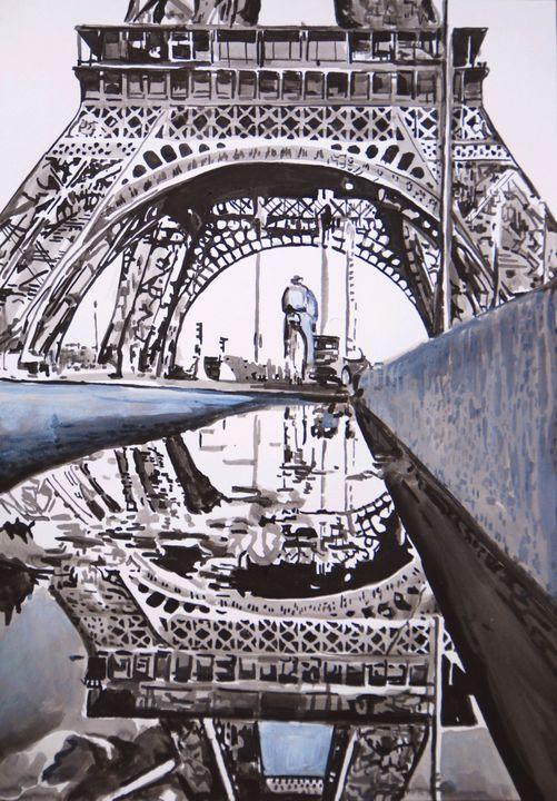 Rainy Paris ID / 50 x 35 cm (2019) - Alexandra Djokic