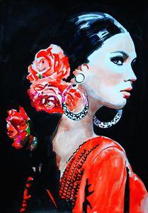 Flamenco dancer / 42 x 29.7 cm - Alexandra Djokic