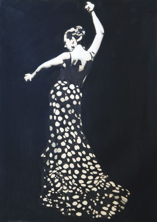 Flamenco dancer /  50.5 x 36 cm - Alexandra Djokic