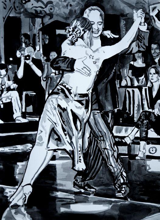 Dance with me ! / 50 x 37 cm (2019) - Alexandra Djokic