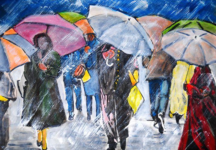 Rainy Day / 49.7 x 35 cm - Alexandra Djokic