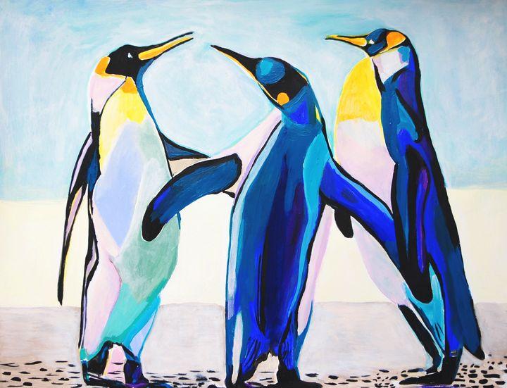 Three penguins / 70 x 54 cm - Alexandra Djokic