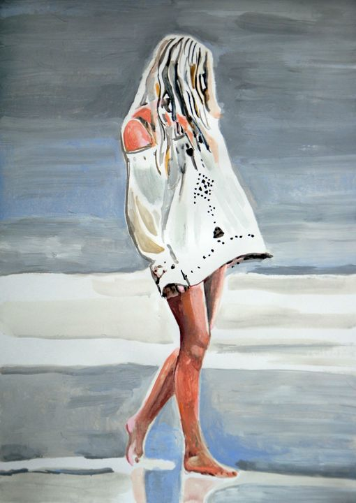 At the beach #2 / 42 x 29.7 cm - Alexandra Djokic
