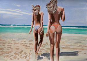 At the beach #1 / 42 x 29.7 cm