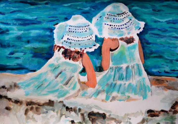 Girl at the beach / 42 x 29.7 cm - Alexandra Djokic