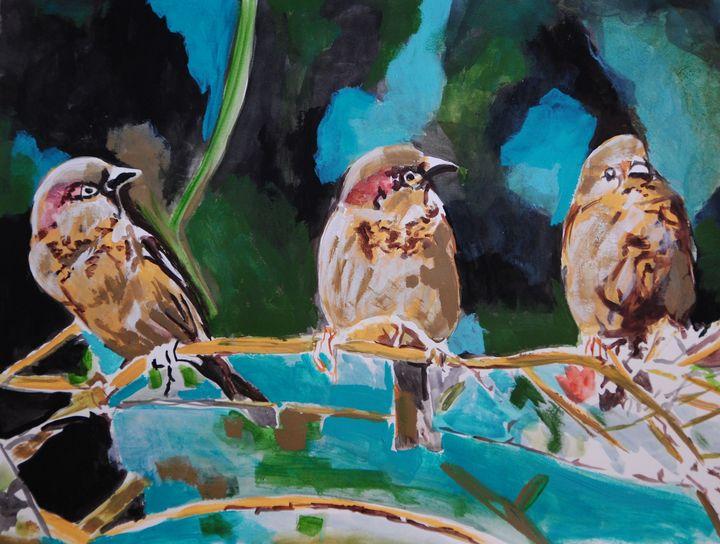 Sparrows / 50 x 38.5 cm (2019) - Alexandra Djokic