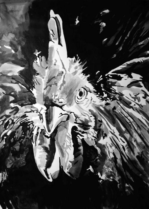 Rooster / 70 X 50 cm (2019) - Alexandra Djokic