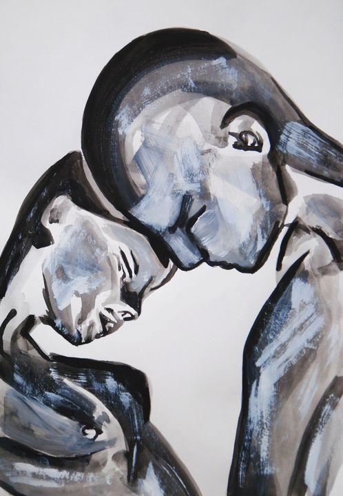 Couple / 49 x 34.5 cm - Alexandra Djokic