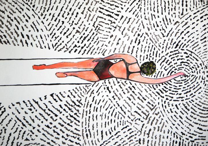 Swimmer / 42 x 29.7 cm (2019) - Alexandra Djokic