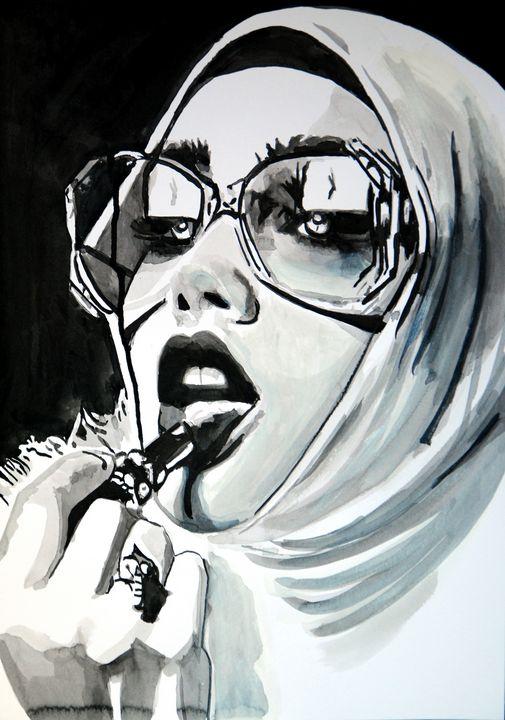 Girl with sunglasses  / 42 X 29.7 cm - Alexandra Djokic