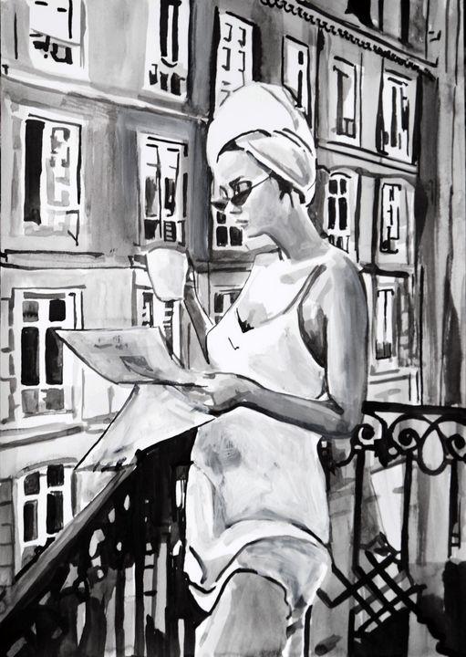 Morning coffee / 42 x 29.7 cm (2019) - Alexandra Djokic