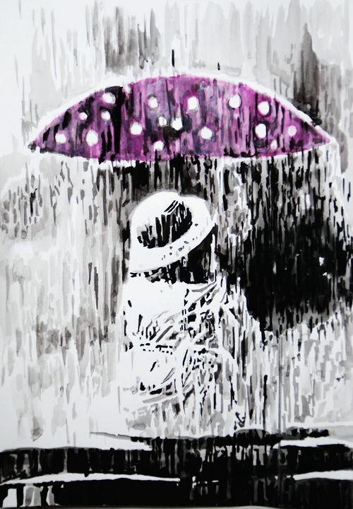 Rainy day ID # 18 / 50 X 35 cm - Alexandra Djokic
