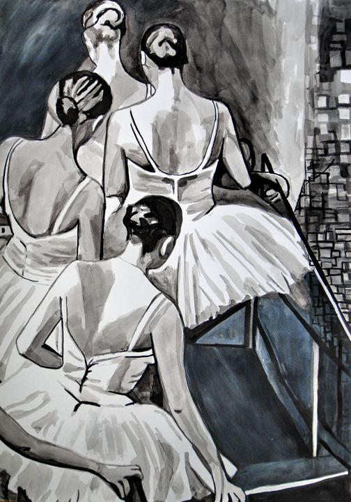 Ballerinas / 72 x 51 cm (2019) - Alexandra Djokic