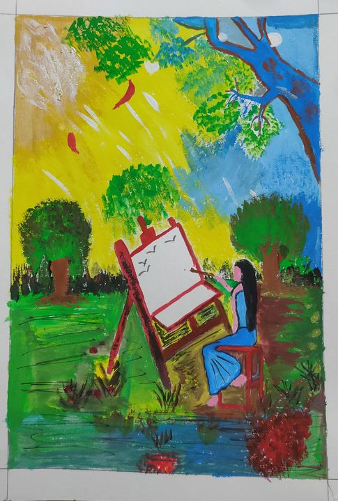 Abstract Painting - Harsha's Paintings