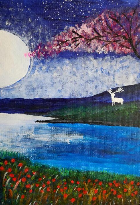 Moonlight - Harsha's Paintings