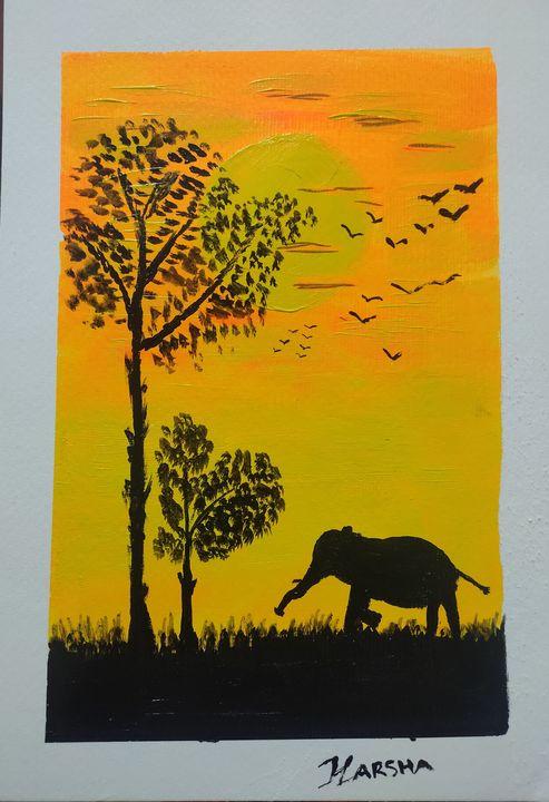 Sunset - Harsha's Paintings