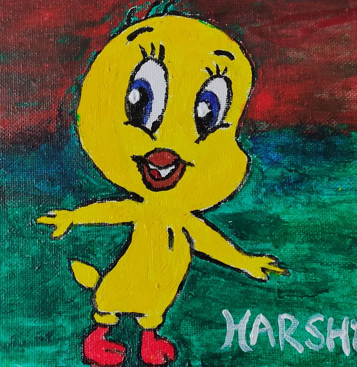 Happy Duckling - Harsha's Paintings
