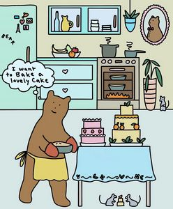 Mrs. Bear Loves to Bake