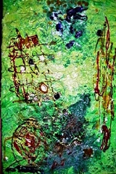 Green Abstract - Darielle PUCCINI Artiste Peintre Contemporain