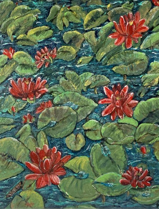 Red Lily Pond - Moni B.