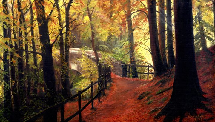 Forest Path. - kenneth Karls Fine Art