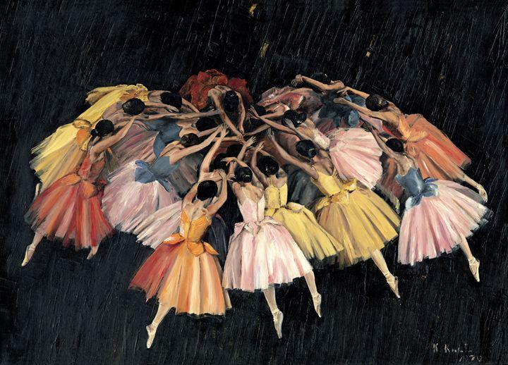 Waltz of the flowers - kenneth Karls Fine Art