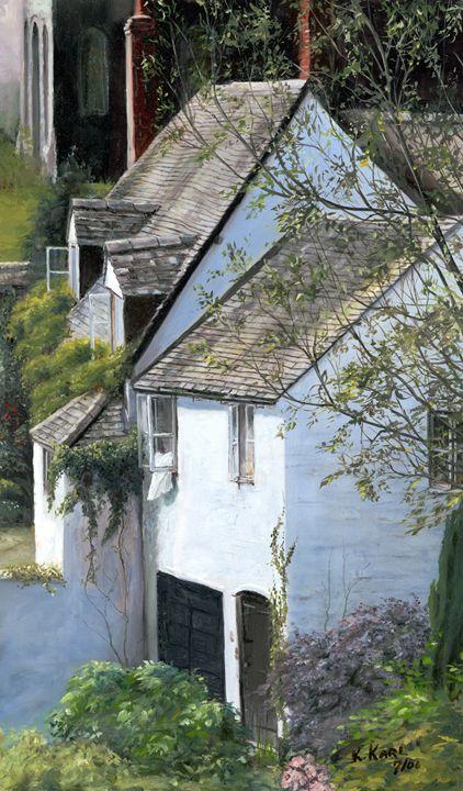 White Cottage - kenneth Karls Fine Art