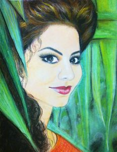 A Girl with Dreams (pastel work)