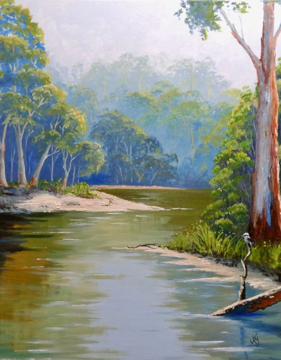 Bend in the river - Annies art