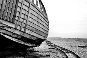 Abandoned boat and haul tracks - kdw712
