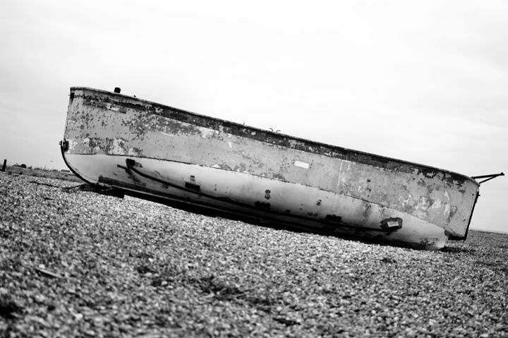 abandoned fishing boat at Dungeness - kdw712