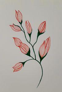 Flowers line art