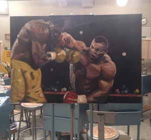 Tyson v Bruno - Jake Putnam Paintings