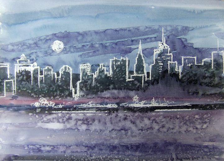 Cityscape#3 42X30cm (2017) - Koriakin Vitaliy
