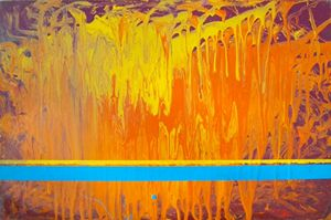 Orange abstraction 60X40cm