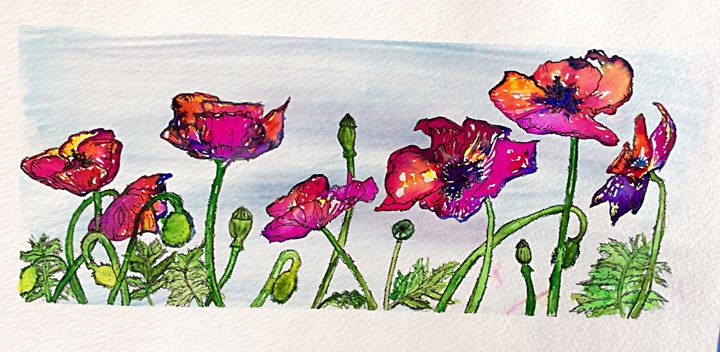 Happy poppies - Sherry Sheldon